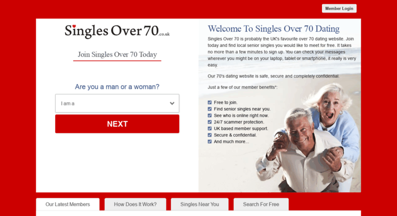 dating for over 70s uk