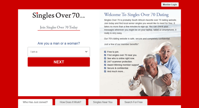 Online dating over 70