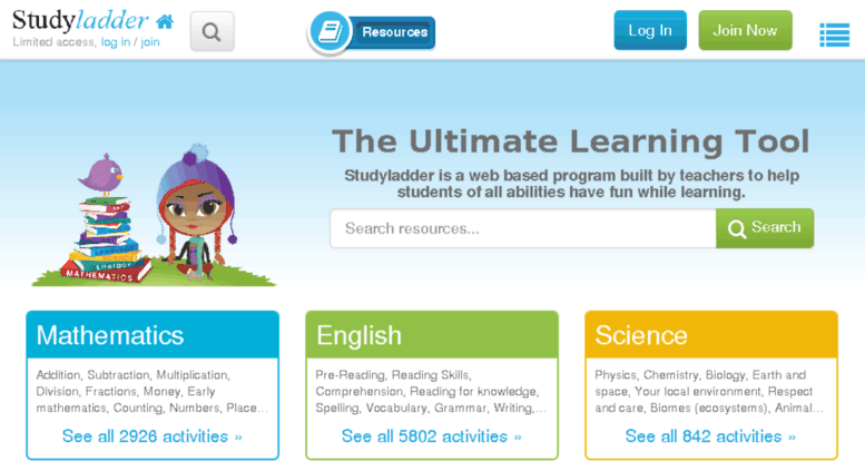 Access smartkiddies.com.au. Studyladder, online english literacy ...