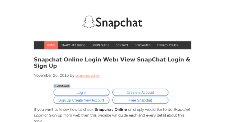 Snapchat sign up online free
