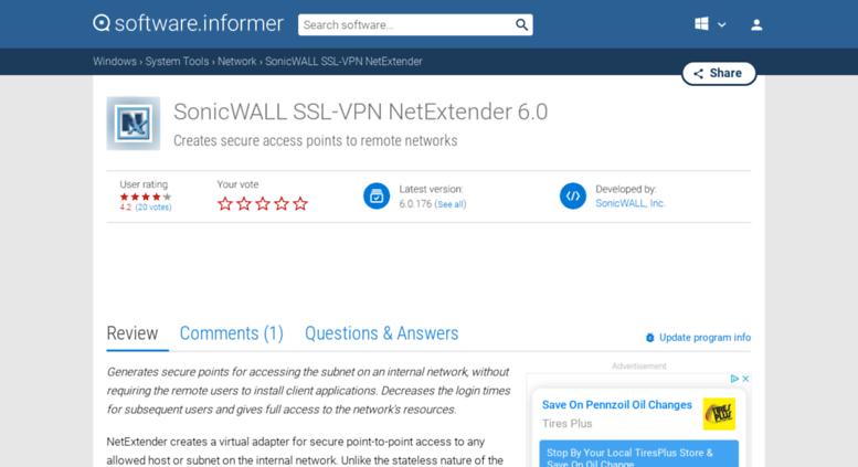 Access Sonicwall Ssl Vpn Netextenderftwareformer
