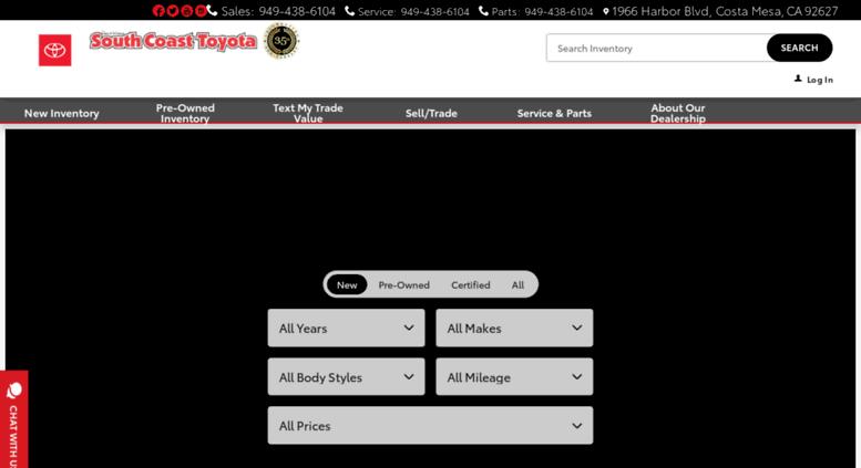 Superior Southcoasttoyota.com Screenshot