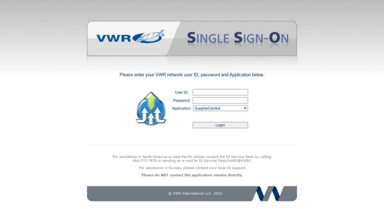 Access sso.vwr.com. VWR SSO - Login