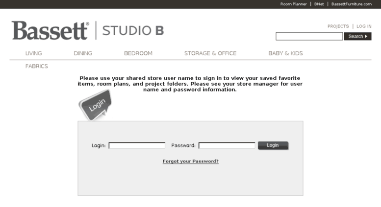 Access Studiob.bassettfurniture.com. Bassett StudioB   Bassett, VA   Login