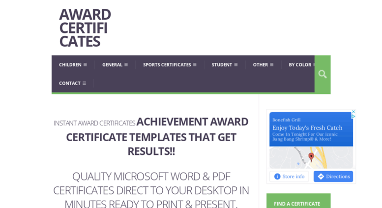 Access Successcertificates Award Certificate Templates