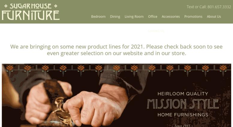 Sugarhousefurniture.com Screenshot