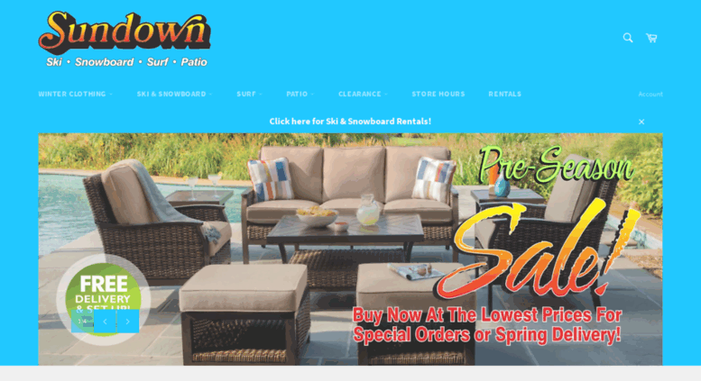 Sundown Ski Shop   Home Page