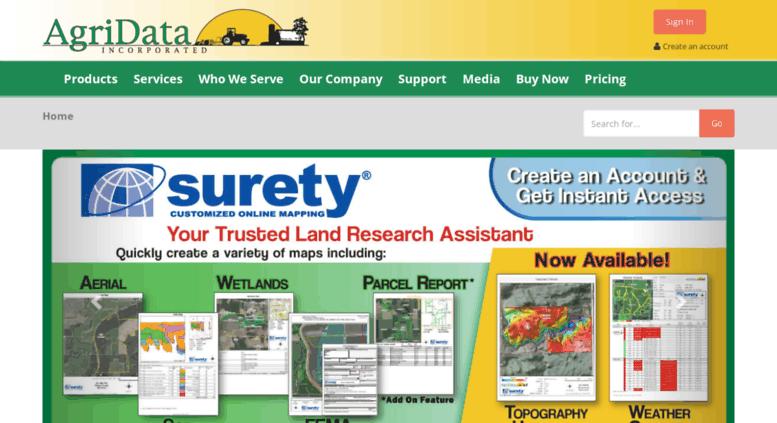 Access Suretymapscom AgriData Inc Home - Surety maps