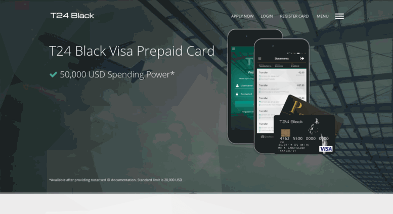t24blackcardcom screenshot - Prepaid Black Card