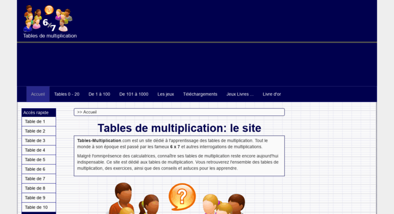 Access tables les tables de multiplication apprendre multiplier en ligne - Table de multiplication en ligne ...