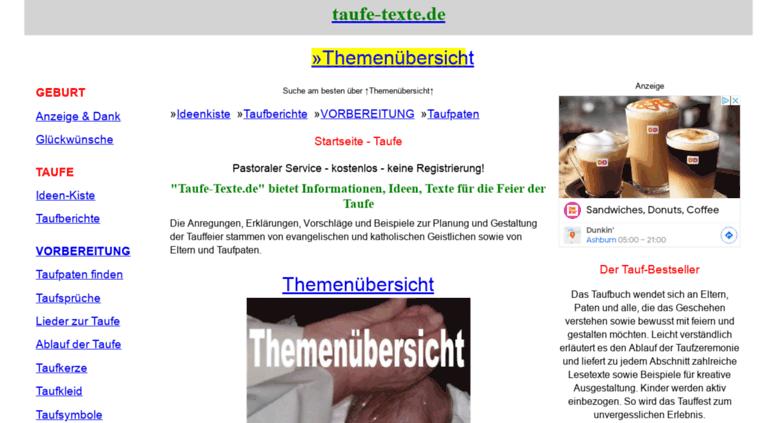 taufe textede screenshot - Furbitten Taufe Beispiele