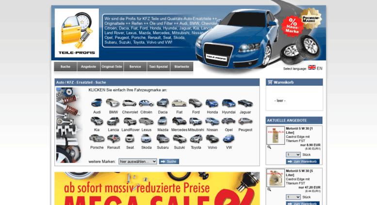 Teile Profis access teile profis de kfz teile profis ersatzteile autoteile