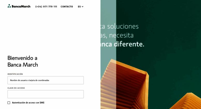 access telemarch.bancamarch.es. banca march / acceso clientes