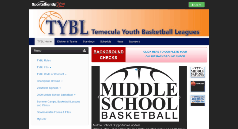 access temeculayouthbasketball sportssignup com temecula youth
