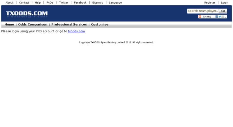 access test1 txodds com txodds odds comparison xml odds feeds