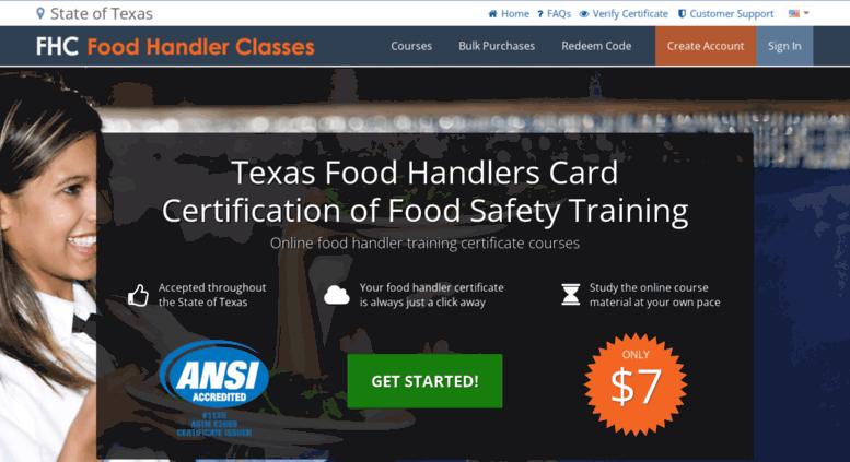 Access Texasodhandlerclasses Food Handler Classes Texas