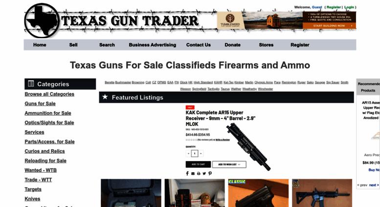 access texasguntrader com buy sell trade guns online used guns