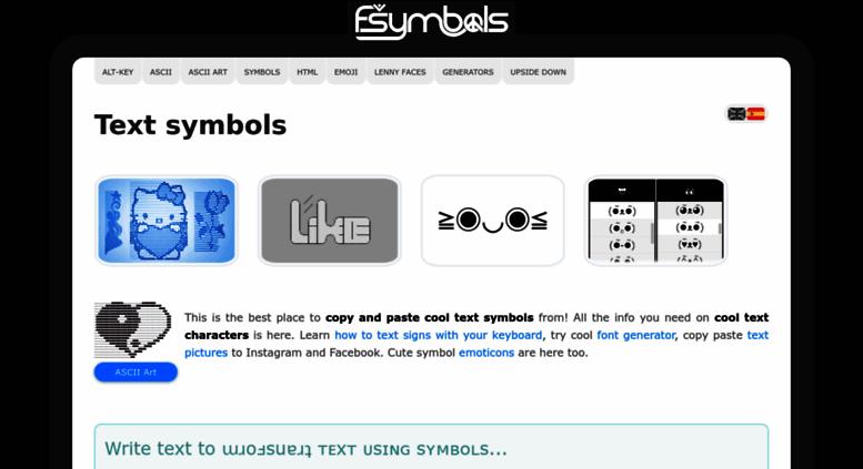 Access Text Symbols Text Symbols Texting Signs Special