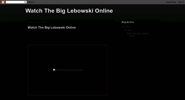 the big lebowski free full movie online