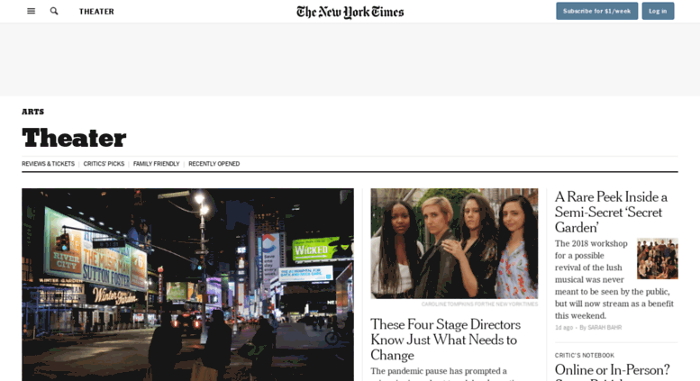 access theater nytimes com theater the new york times