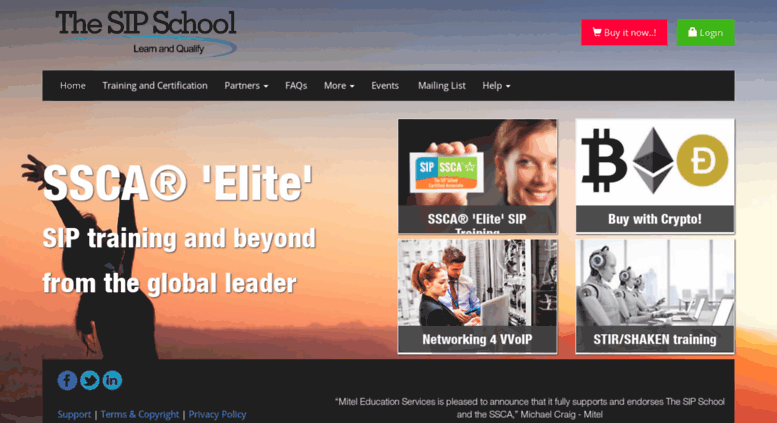 Access thesipschool.com. SIP Training and SSCA® Certification -