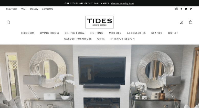 Access Tideshomeandgardencouk Furniture Interiors Curtains Lighting Gifts Interior Design Mirrors Table Flowerslifestyle