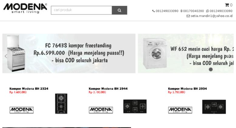 Daftar Harga Toko Jual Kompor Modena DOMO Exhaust Oven Freestanding Dispenser Microwave Jakar