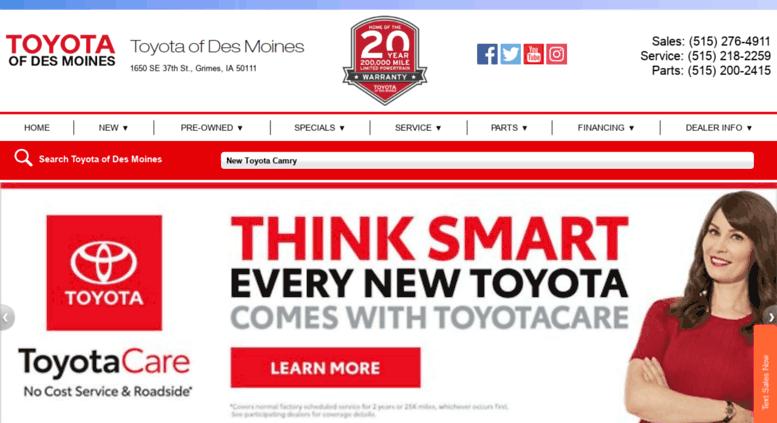 Toyotadm.com Screenshot