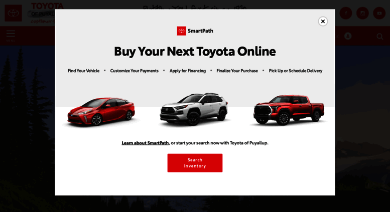 Amazing Toyotaofpuyallup.com Screenshot