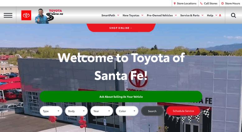 Toyotaofsantafe.com Screenshot