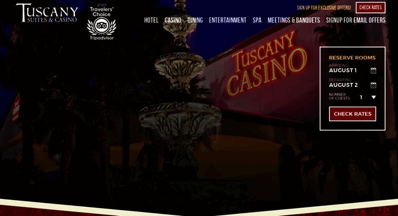 Access tuscanylvcom Tuscany Suites and Casino Las Vegas Hotel