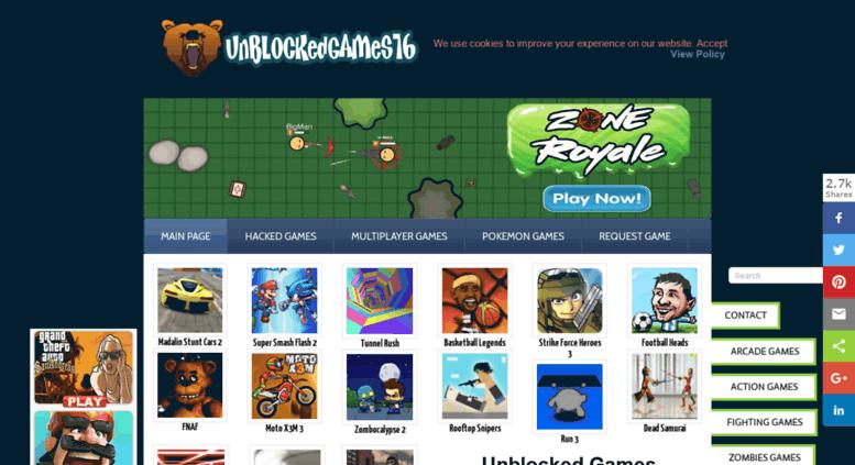 pixel battle royale unblocked 76
