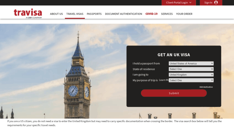 Access united-kingdom.travisa.com. United Kingdom visa application ...