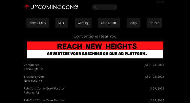 access upcomingcons com upcomingcons com anime conventions sci