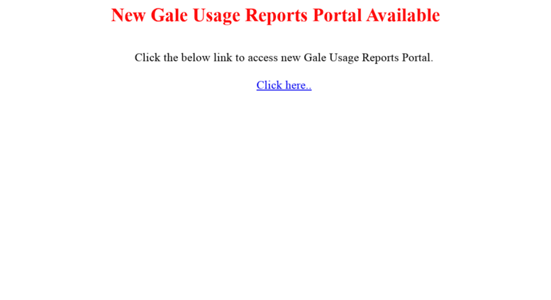 Access usagereports.galegroup.com. Cengage Learning