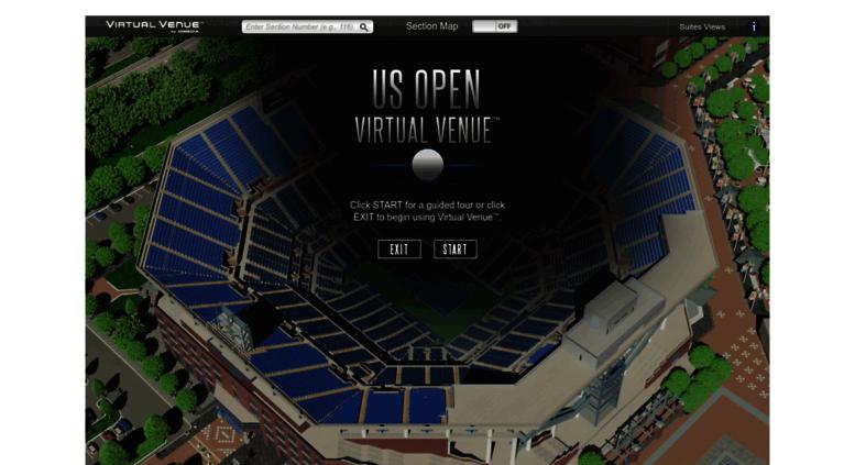 Access usopen.io-media.com. Arthur Ashe Virtual Venue™ by IOMEDIA