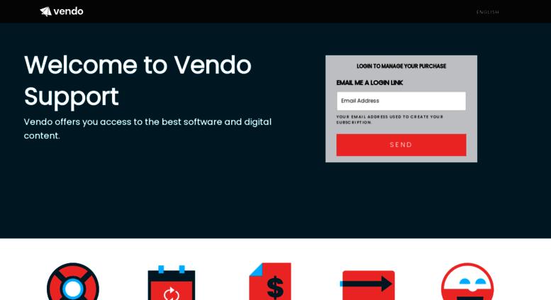 Vendo support cancel