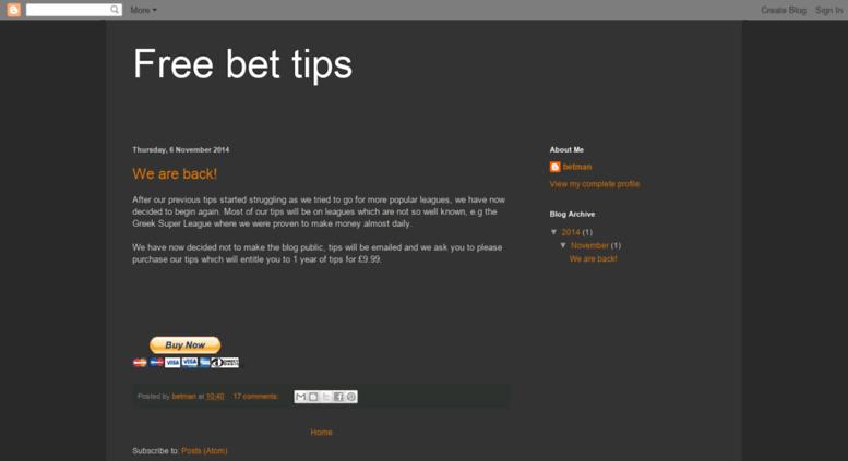 Blogspot bet tips