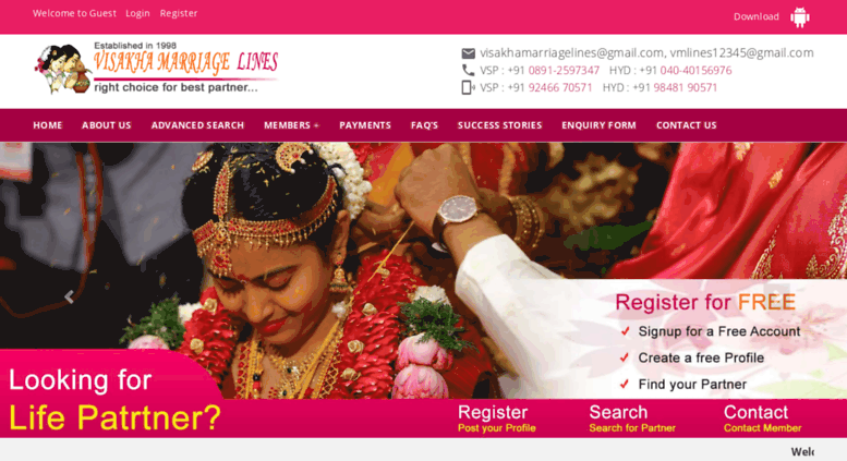 visakha marriage lines  Access visakhamarriagelines.com. Welcome to Visakha Marriage Lines