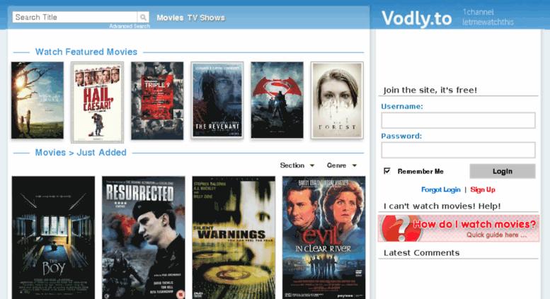 Access vodly.unblock.al. 1Channel | LetMeWatchThis | Vodly ...