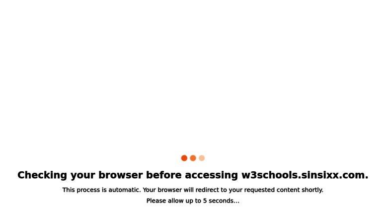 Access W3schoolsnsixx S R W3schools