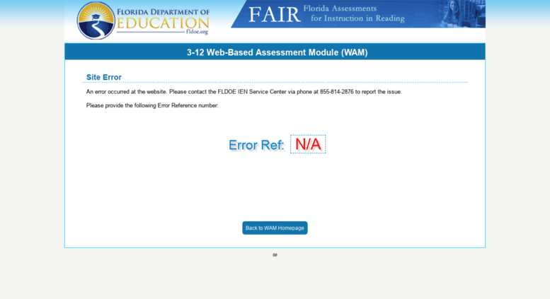 Access wam.fldoe.org. Florida Assessments for Instruction in Reading ...