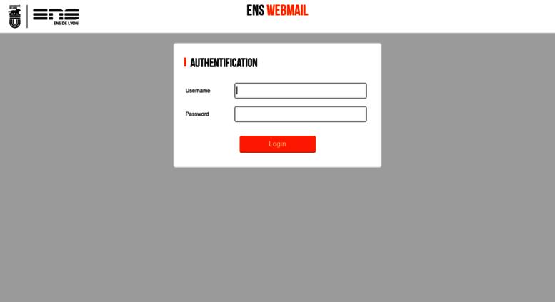 ens lyon webmail
