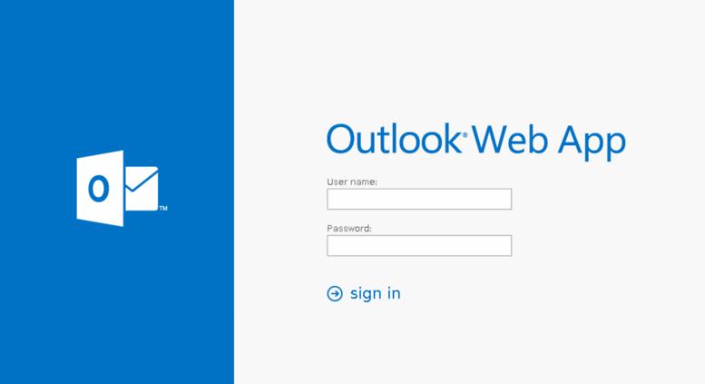 Access webmail.leviton.com. Outlook Web App