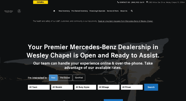 Wesleychapel.mercedesdealer.com Screenshot