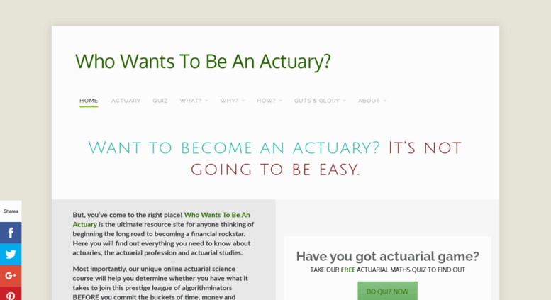 want to become and actuary