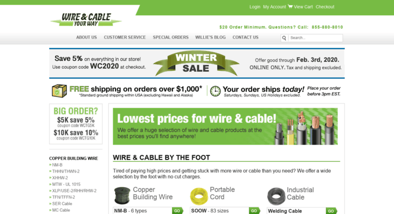 Access wireandcabletogo.com. Wire & Cable Your Way | Electrical Wire ...