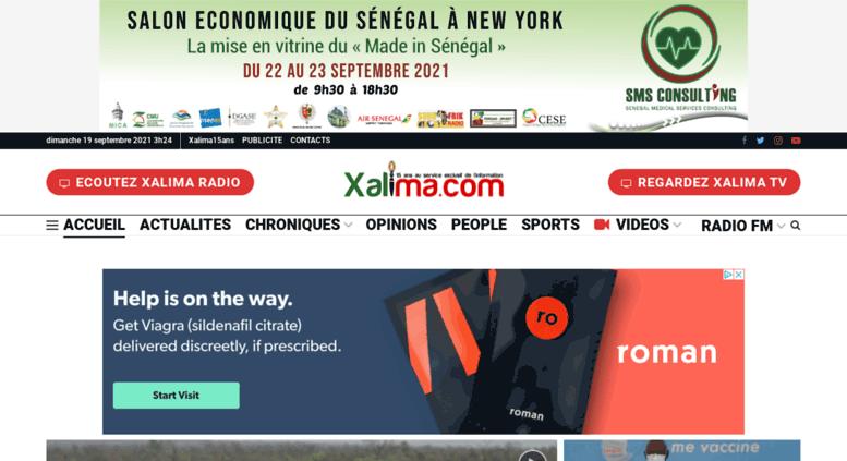 Xalima access xalima. xalima | site de référence de l'actualité