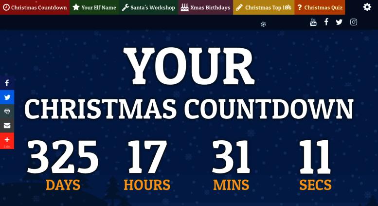 yourchristmascountdowncom screenshot - Sleeps Until Christmas