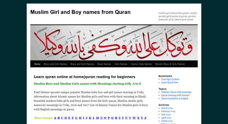 Access Yousafali011wordpress Muslim Girl And Boy Names From Quran